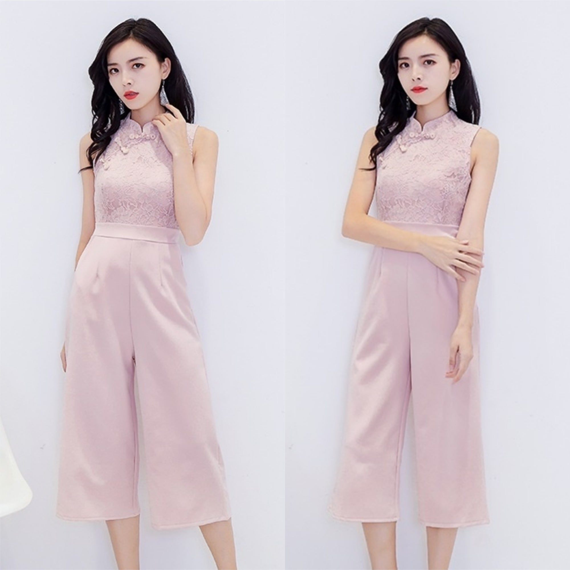 Clarabel Cheongsam Jumpsuit [3 Colours]