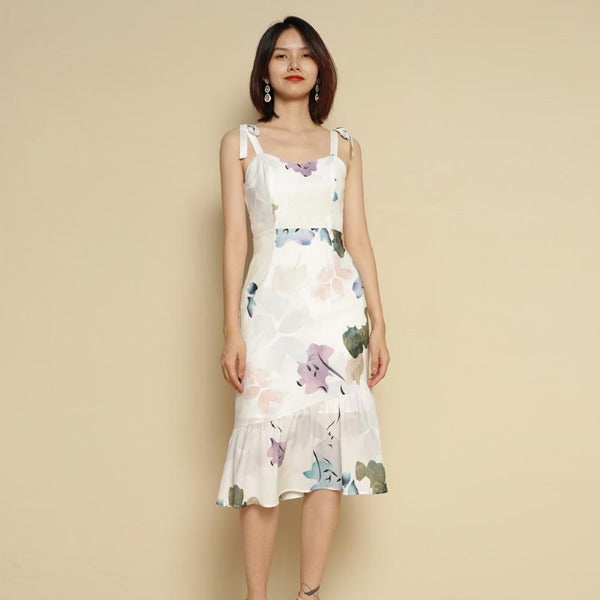 Senhime Floral Bloom Ruffle Dress