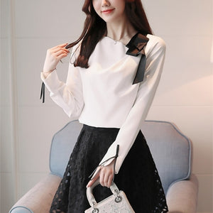 Emma Side Bow Chiffon Blouse