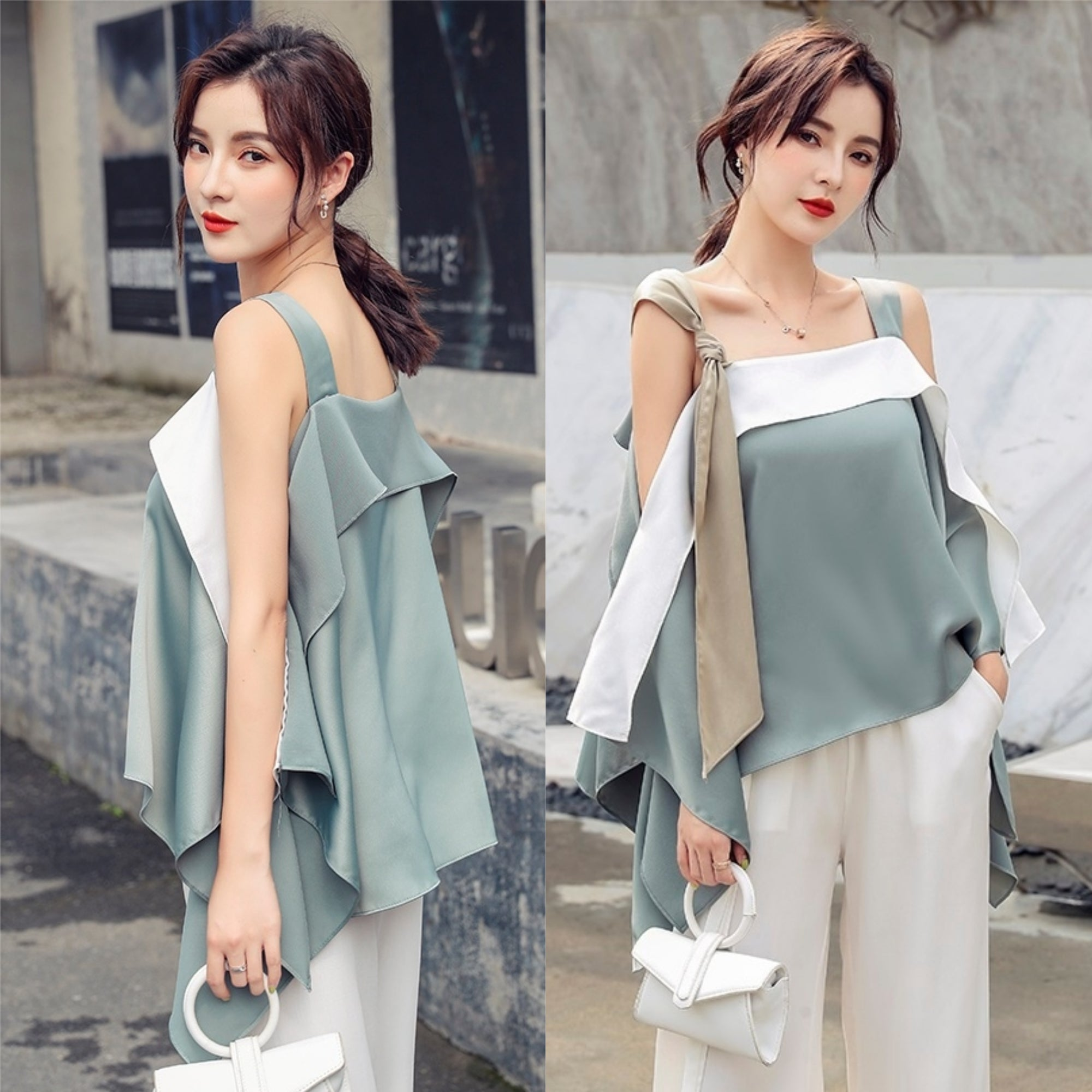 Taylaa Off-Shoulder Loose Top