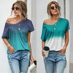 Caitlyn Loose Fit Ombre Shirt