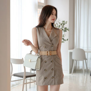 Ling Stripe Blazer Dress