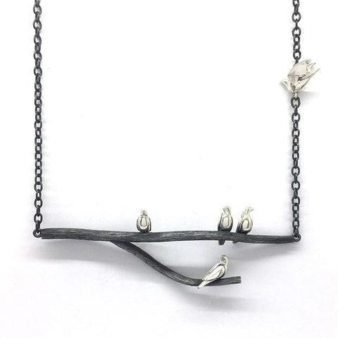 The Birds Necklace- Handcrafted in Silver