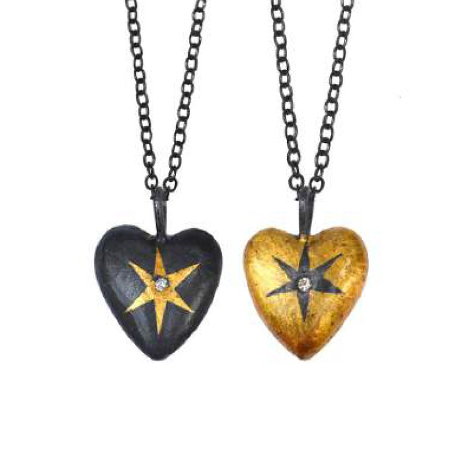 HEART WRAPPED STAR PENDANT