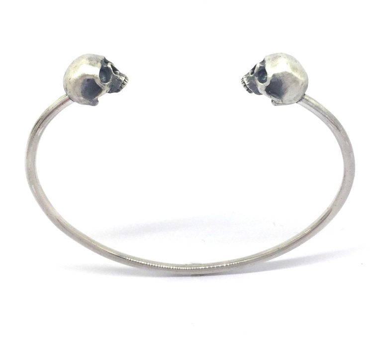 SKULL BANGLE - Handcrafted in Silver