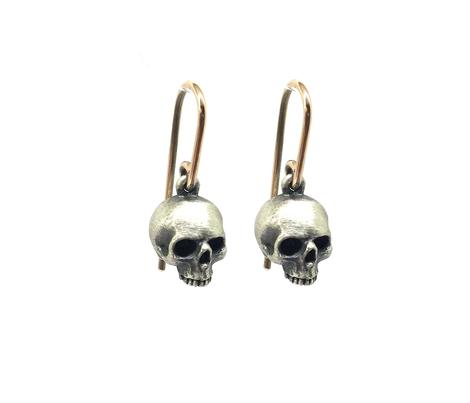 Tiny Skull Earrings- SKUEAR02