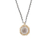 LARGE GOLD OCTAGON NECKLACE MOONSTONE