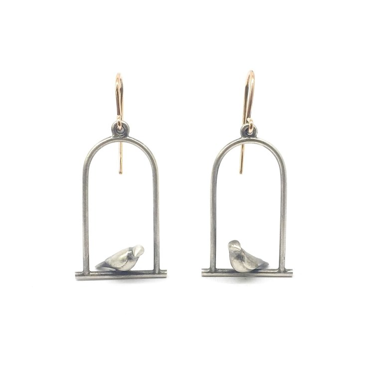 Perched Bird Earrings