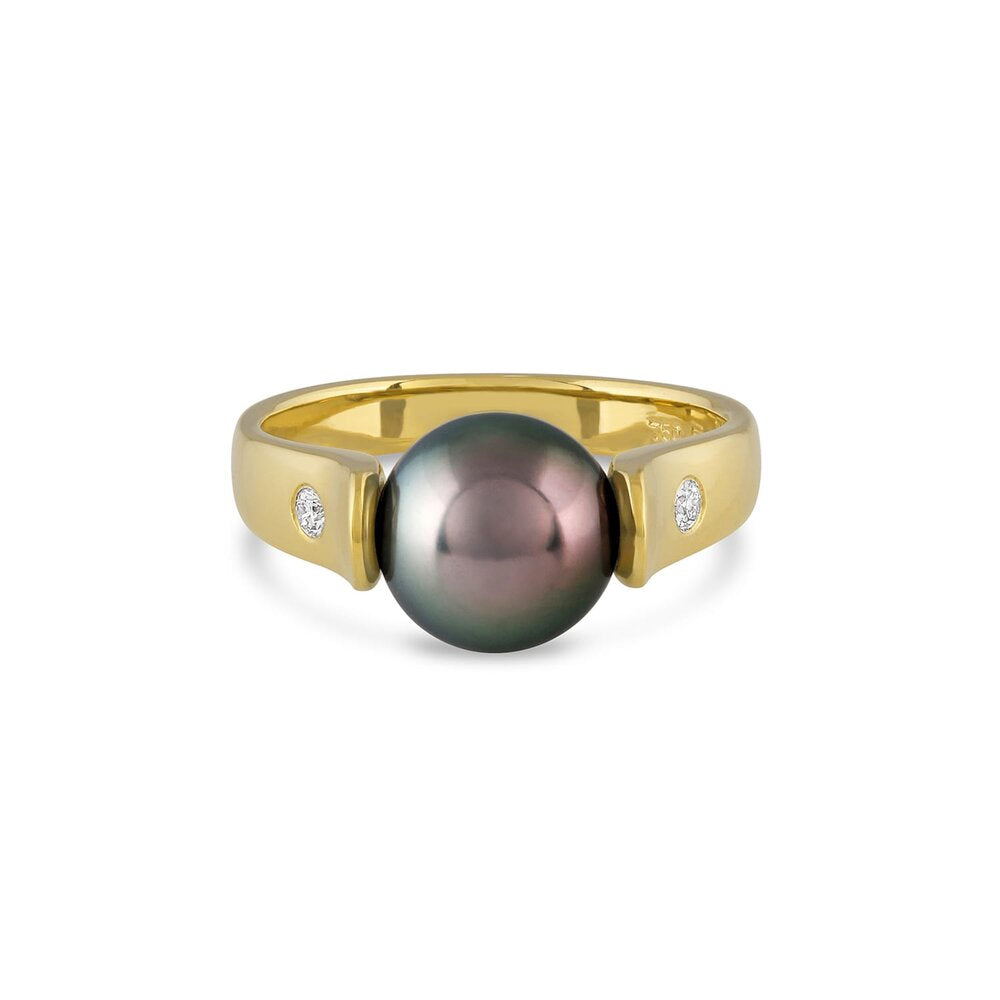 TULIP PEARL RING  GOLD