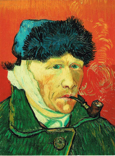 VGC 09 - Self-portrait with Fur Hat, Bound Ear and Tobacco Pipe