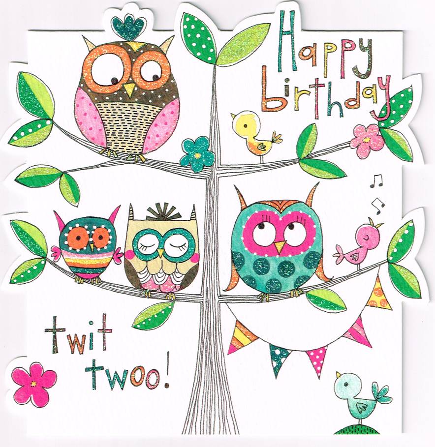 BDC 22 - Happy birthday - twit twoo! (sparkling)