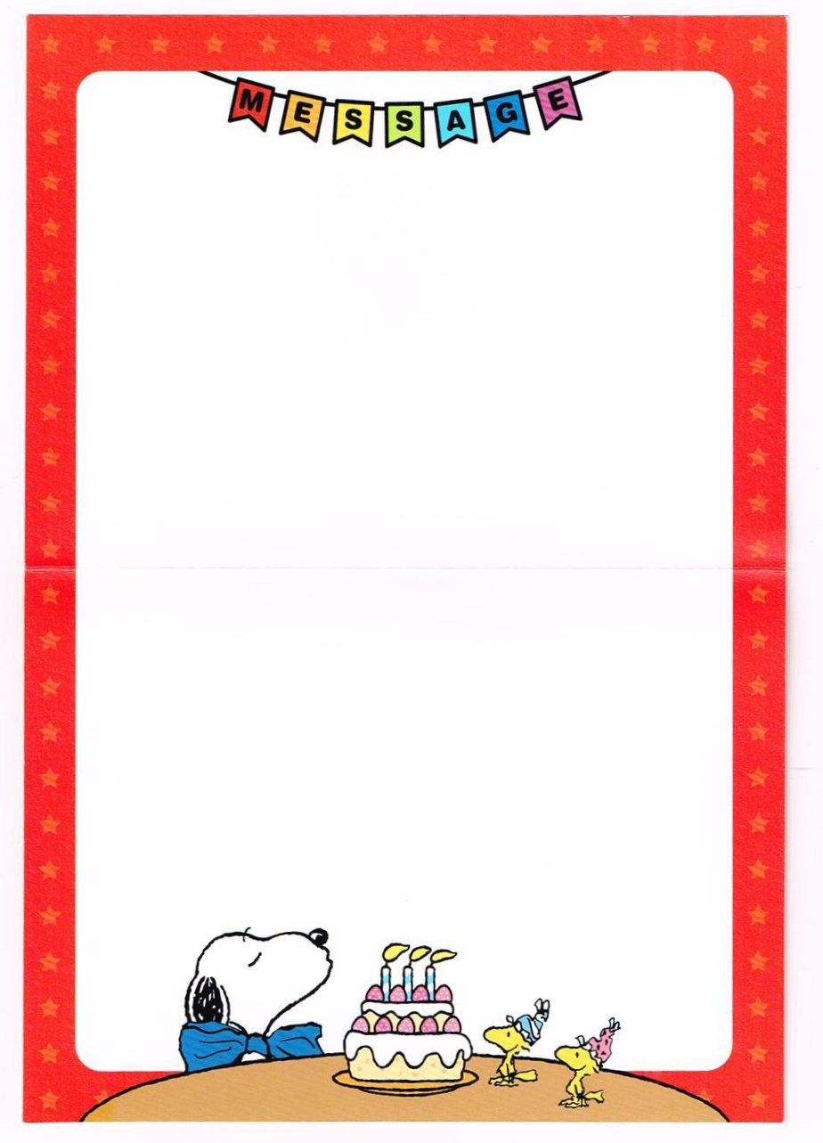 Bdc 26 Happy Birthday ǥ�你生日快乐! Snoopy Pigeon Postcard