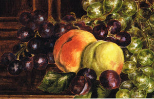 BP 46 - Still life of grapes and peaches