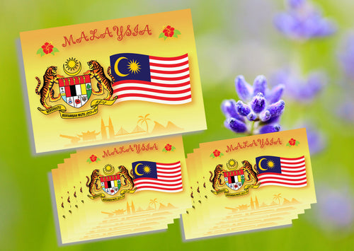 10 pieces - Malaysian Coat of Arms & Flag 2018