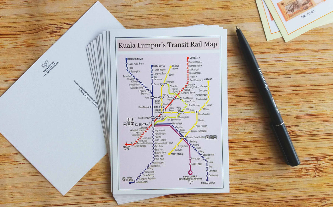 10 pieces - KL's Transit Rail Map