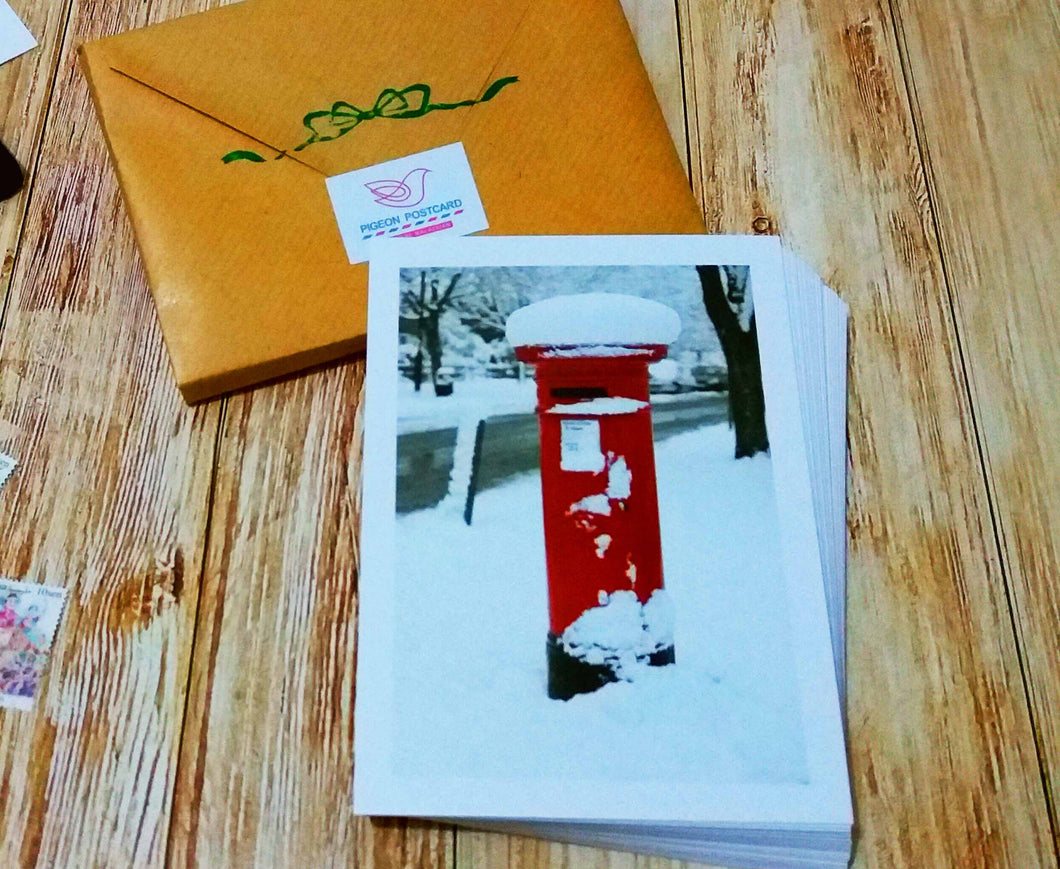 30 pieces - Postbox in Winter