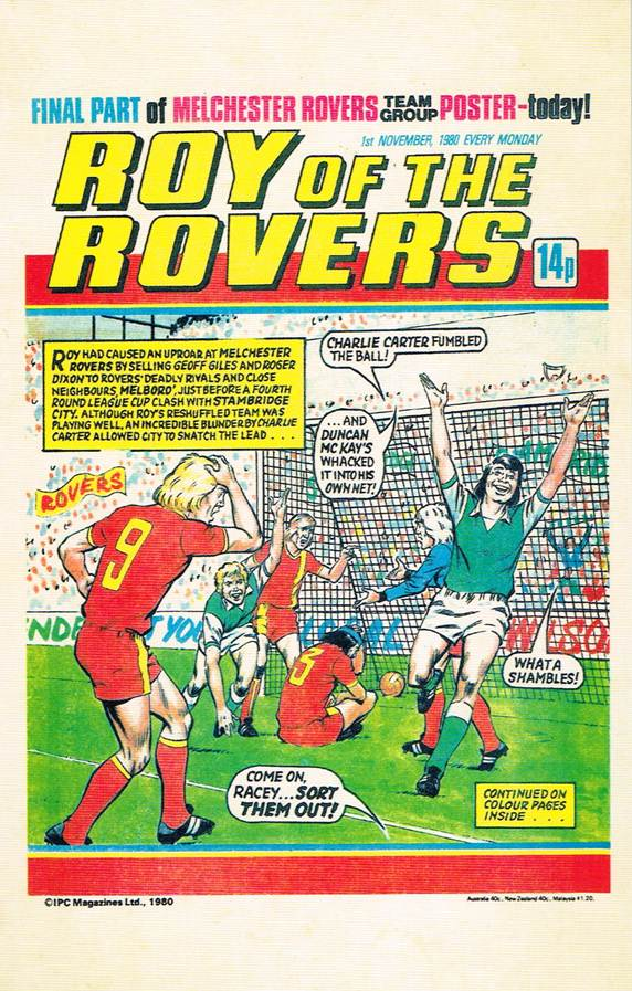 RR 50 - Comic Cover from 1st November 1980
