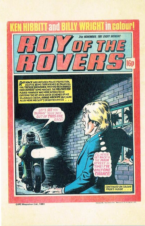 RR 62 - Comic Cover from 21st November 1981