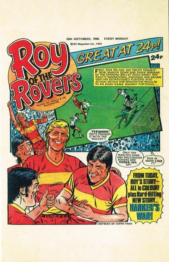 RR 84 - Comic Cover from 28th September 1985