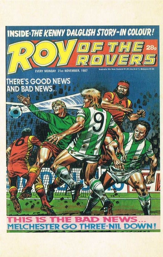 RR 93 - Comic Cover from 21st November 1987