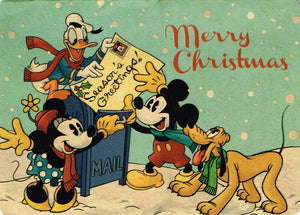 XMC 29 - Merry Christmas (Mickey Mouse) (embossed)