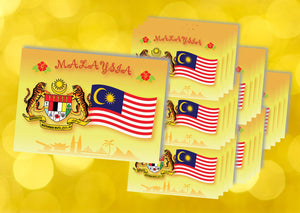 25 pieces - Malaysian Coat of Arms & Flag 2018