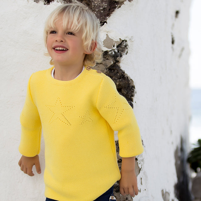 Lemon Knitted Jumper - orkids boutique
