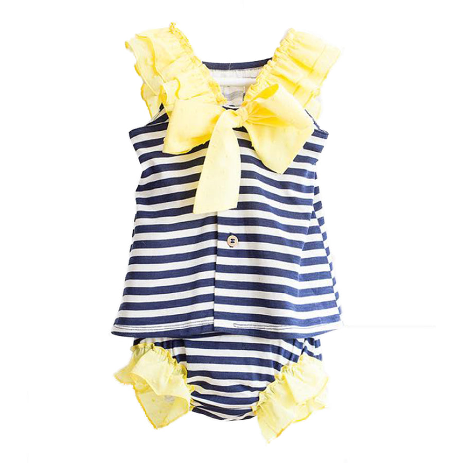 Striped yellow dress - orkids boutique