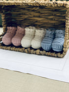 Newborn hand knitted booties - orkids boutique