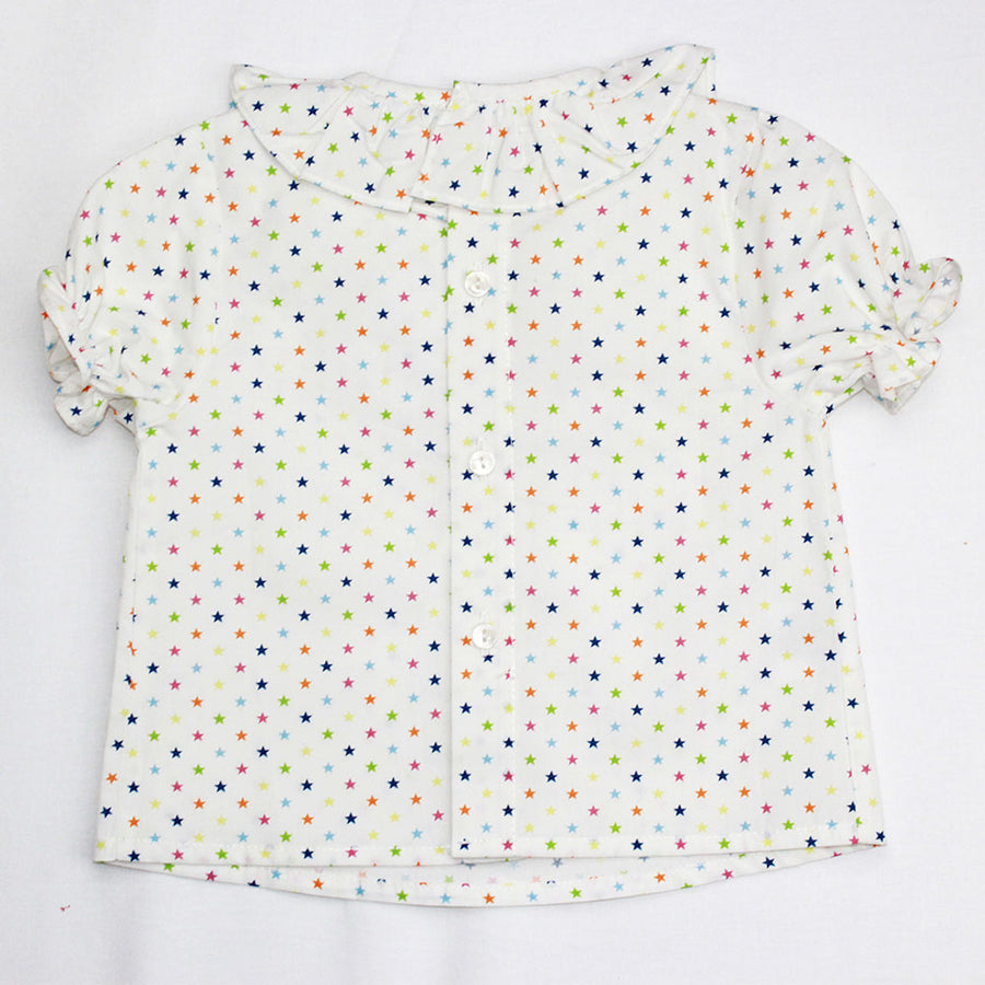 Baby Girl Frilly Collar Blouse - orkids boutique