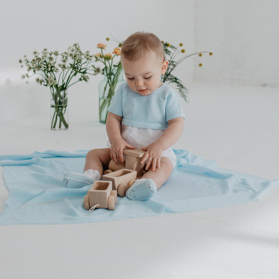 Baby blue Shawl - orkids boutique