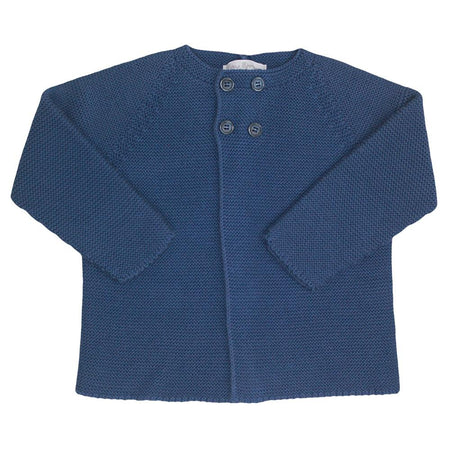 Baby Boys Blue Cotton Cardigan - orkids boutique