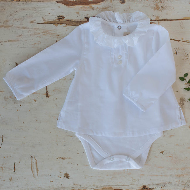White cotton bodysuit - orkids boutique