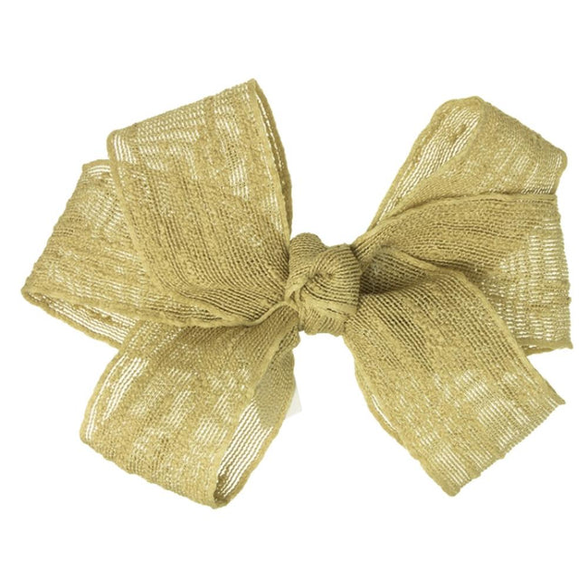 Girls Gold bow hair clip - orkids boutique