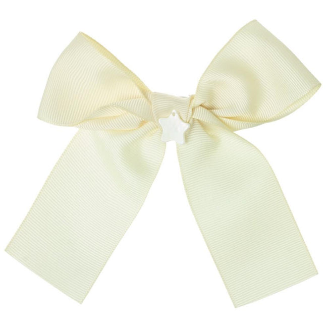 Girls bow hair bubble beige - orkids boutique