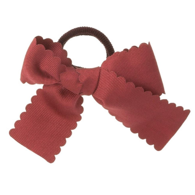 Girls bow hair bubble burgundy - orkids boutique