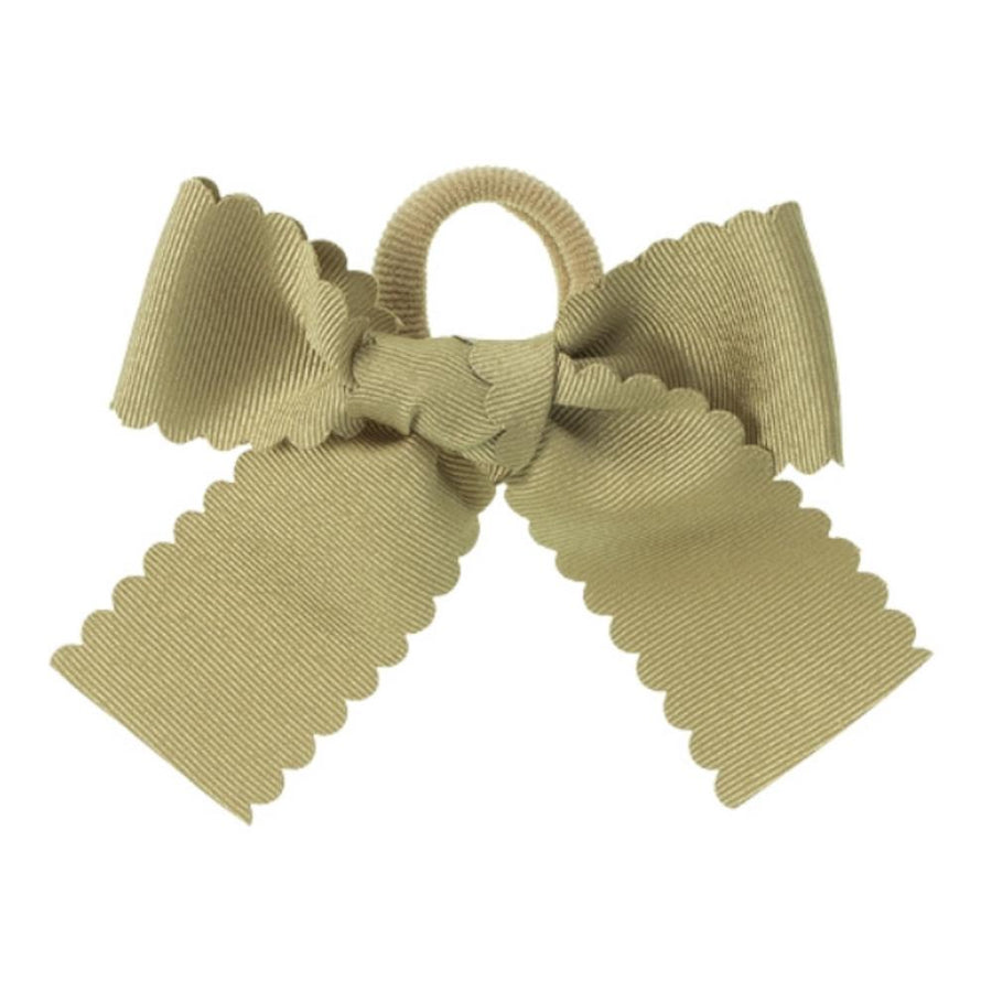 Girls bow hair bubble camel - orkids boutique