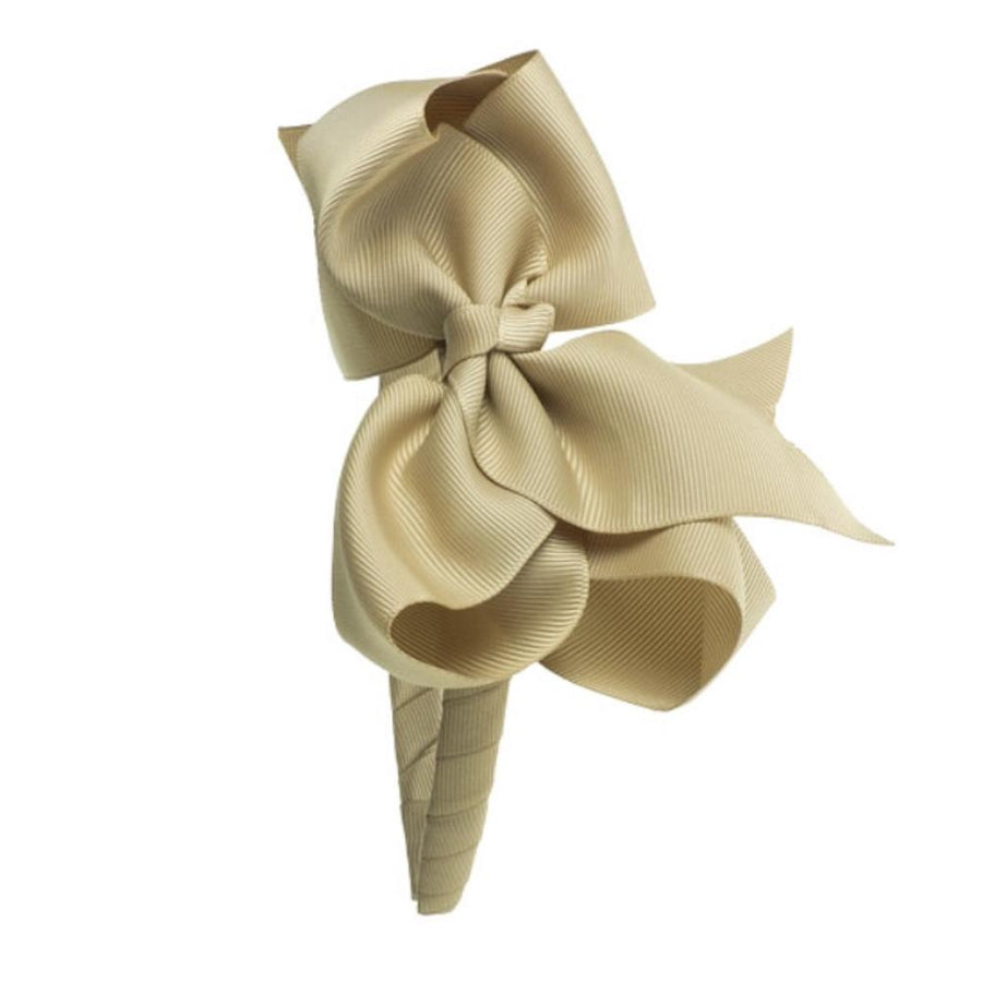 Girls Bow Hairband camel - orkids boutique