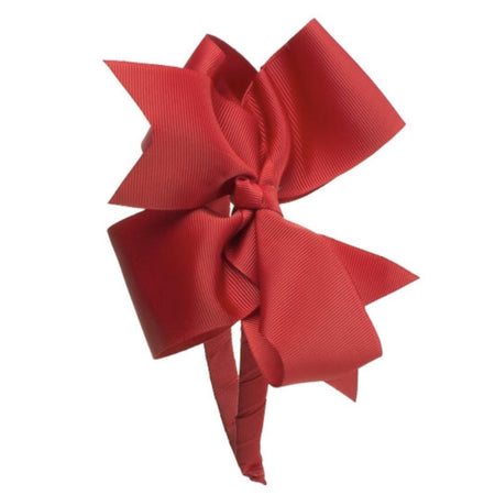 Girls Bow Hairband red - orkids boutique