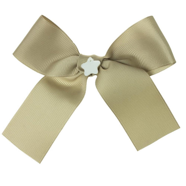 Girls camel bow hair bubble - orkids boutique