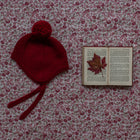 Burgundy Merino Bonnet - orkids boutique
