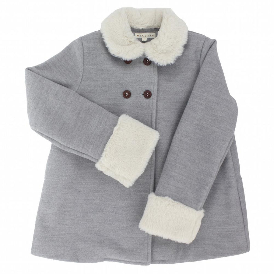Girls Grey Coat - orkids boutique