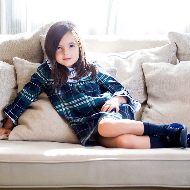 Girl Tartan Dress - orkids boutique
