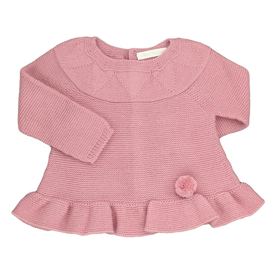 Girls Pink baby knitted dress - orkids boutique
