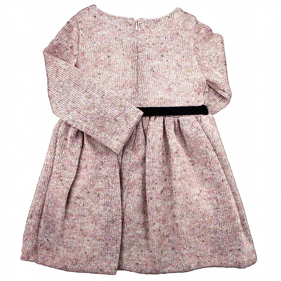 Girl pink knitted dress - orkids boutique