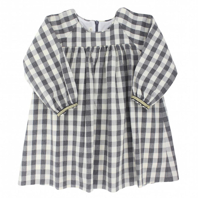 Girls checked dress - orkids boutique