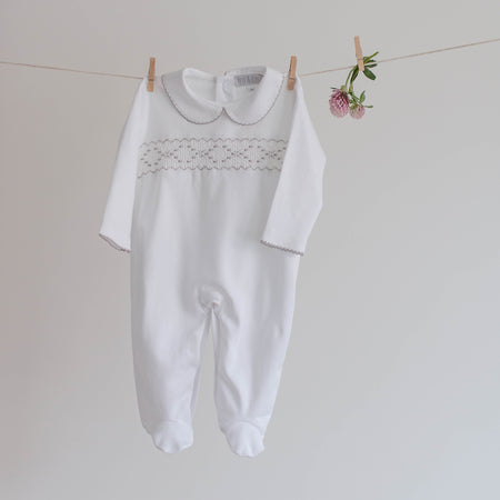 Baby boy smock sleepsuit - orkids boutique