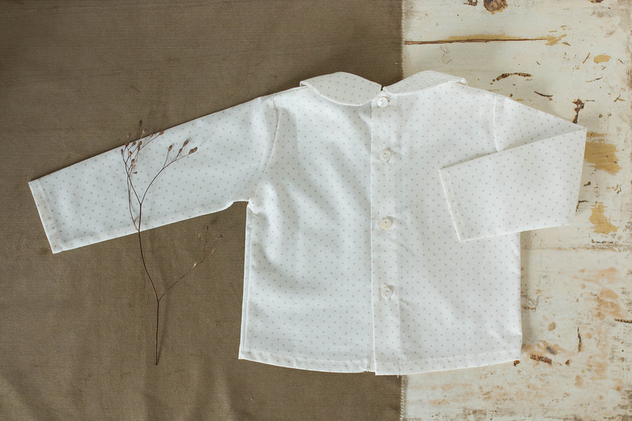 Grey Star Baby blouse - orkids boutique