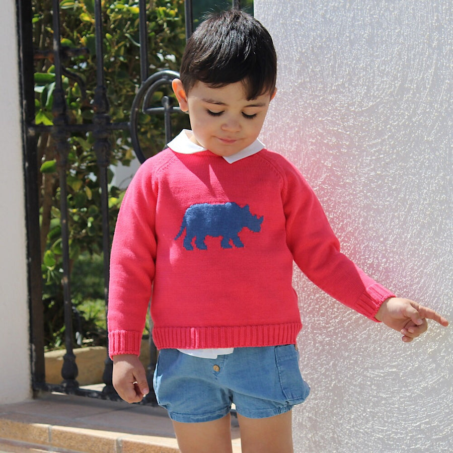 Coral Knitted Jumper - orkids boutique