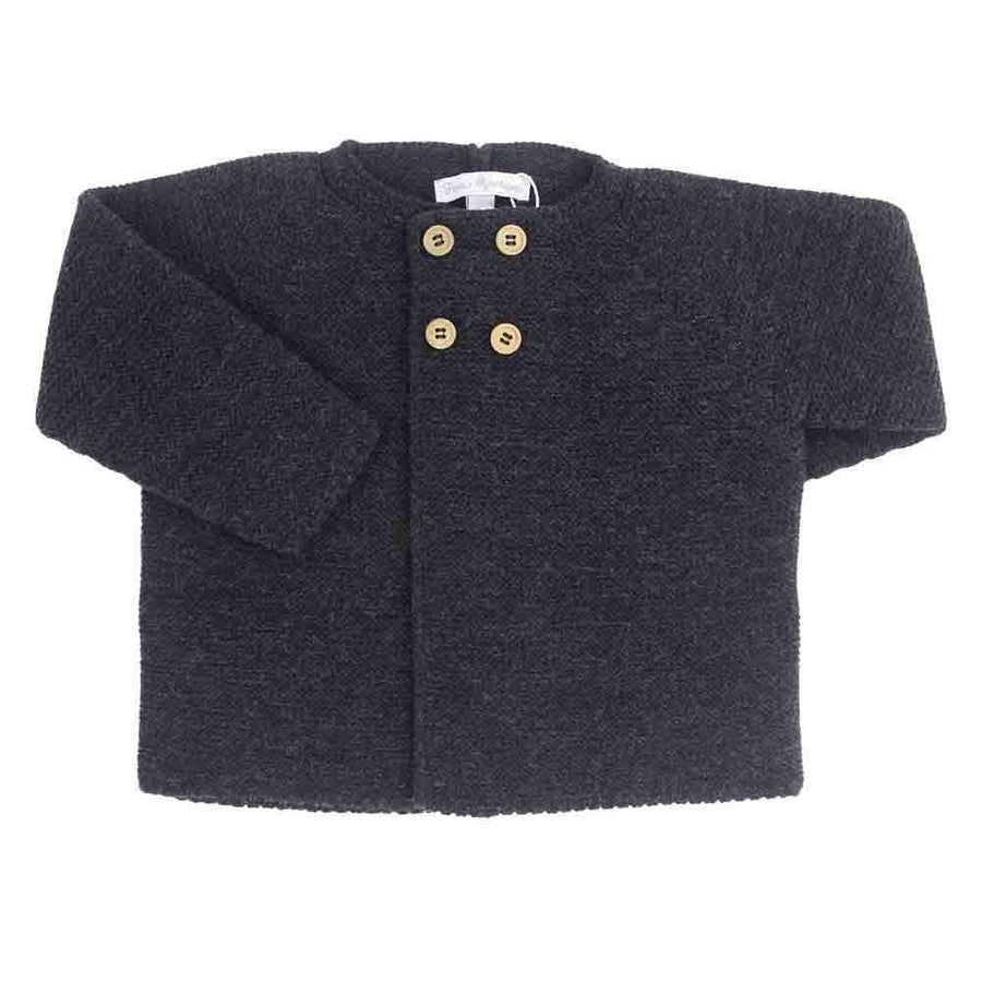 Anthracite unisex knitted cardigan - orkids boutique